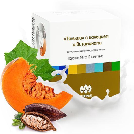 """Изображение БАД к пище """"Тяньши"""" с кальцием и витаминами"""""""